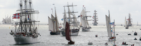 Den Helder parade of sail (photo: Sail Training International)