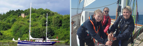 Prolific in the Kiel Canal - and a winching team!