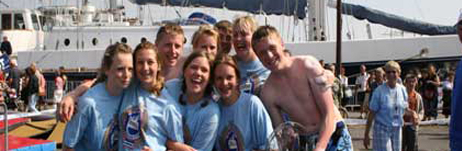 John Laing team: trophy winners at St Malo crew sports events