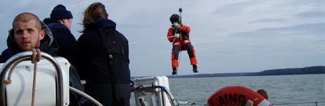 Solent Coastguard's helicopter uses John Laing for an exercise