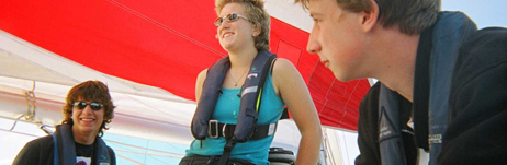 Keen and committed crew members aged 16+ can train as sea staff
